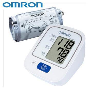 欧姆龙/omron HEM-8711家用上臂式智能血压测量仪 智能加压测量准、高压警示、液晶大屏、14组记忆值