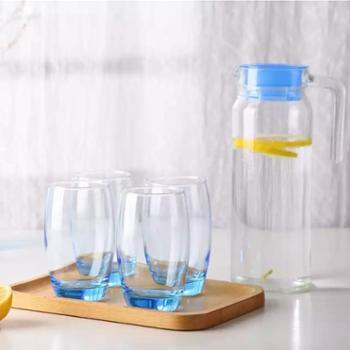 乐美雅 H9102 鹿特丹壶凝彩水具5件套 玻璃杯 冷水壶 水杯
