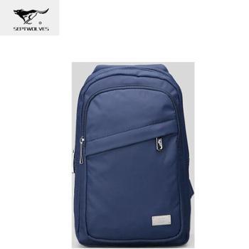 七匹狼牛津布韩版胸包 蓝色 B0802054-108