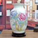 傲世瓷业 景德镇陶瓷器 大号古典粉彩花瓶工艺品摆件装饰品 冬瓜瓶 四款可选