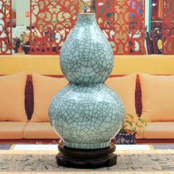 傲世瓷业景德镇陶瓷器古典裂纹瓷花瓶工艺品摆件装饰品仿古裂纹釉六款可选H018