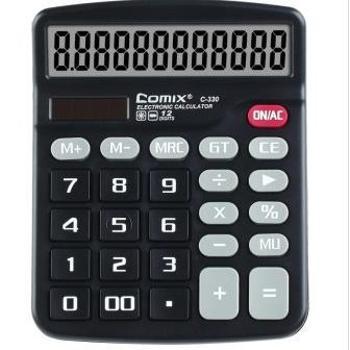 齐心(COMIX)C-330中台超省钱办公计算器12位