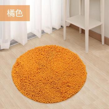 动动手雪尼尔地垫门垫厨房地毯卫生间浴室脚垫吸水防滑垫直径60公分