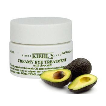 美国Kiehl's/科颜氏牛油果保湿眼霜淡化黑眼圈眼袋14g科颜氏牛油果眼霜14g除细纹14g