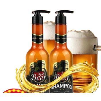 韩国原装进口施玲啤酒二合一洗发水单瓶