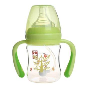 gb好孩子母乳实感宽口径握把吸管玻璃奶瓶