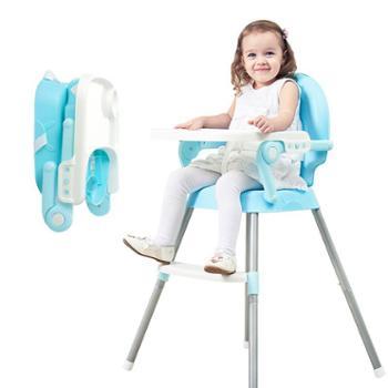 Tobaby宝宝餐椅婴儿便携儿童餐桌椅子多功能可折叠吃饭安全座椅