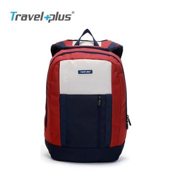 Travelplus旅行家双肩包学院风撞色时尚背包女TP750112红蓝白