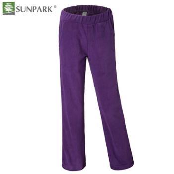 SUNPARK秋冬新品女款抓绒裤加厚保暖透气直筒抓绒长裤速干21976