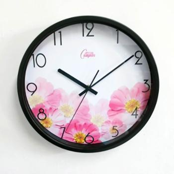 康巴丝 石英钟 正品包邮 丽声机芯 时尚12寸创意钟 静音扫秒 卧室客厅简约现代 挂钟 钟表
