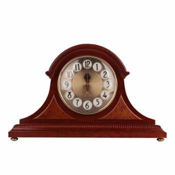 康巴丝 正品包邮 兰博 二代电波机芯 电波钟 静音扫秒 自动校时 欧式田园风格实木 座钟 钟表