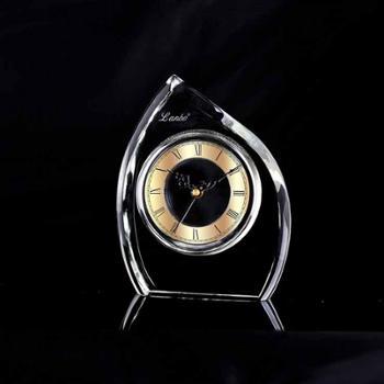 康巴丝 兰博 正品包邮 二代电波机芯 电波钟 静音扫秒 自动校时 简约现代风格 办公室书房卧室 高级水晶座钟 钟表