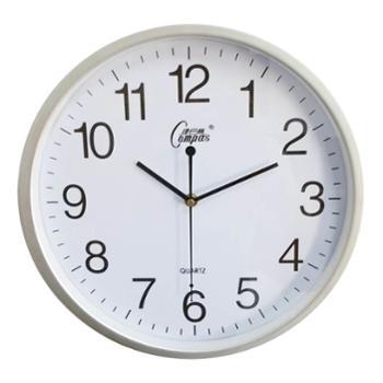 康巴丝石英钟正品包邮丽声机芯时尚14寸静音扫秒卧室客厅简约现代挂钟钟表