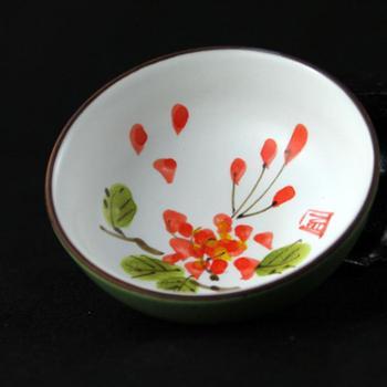 陶立方手工粗陶茶杯手绘品茗杯功夫茶杯功夫茶具杯子TF-5304