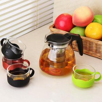 陶立方 耐热玻璃茶具套装红茶泡茶壶茶杯组合防烫功夫茶具套装 TF-5869