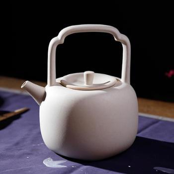 陶立方 陶瓷茶壶台湾老段烧白泥陶壶功夫茶具泡茶壶大容量煮茶烧水壶 TF-5775