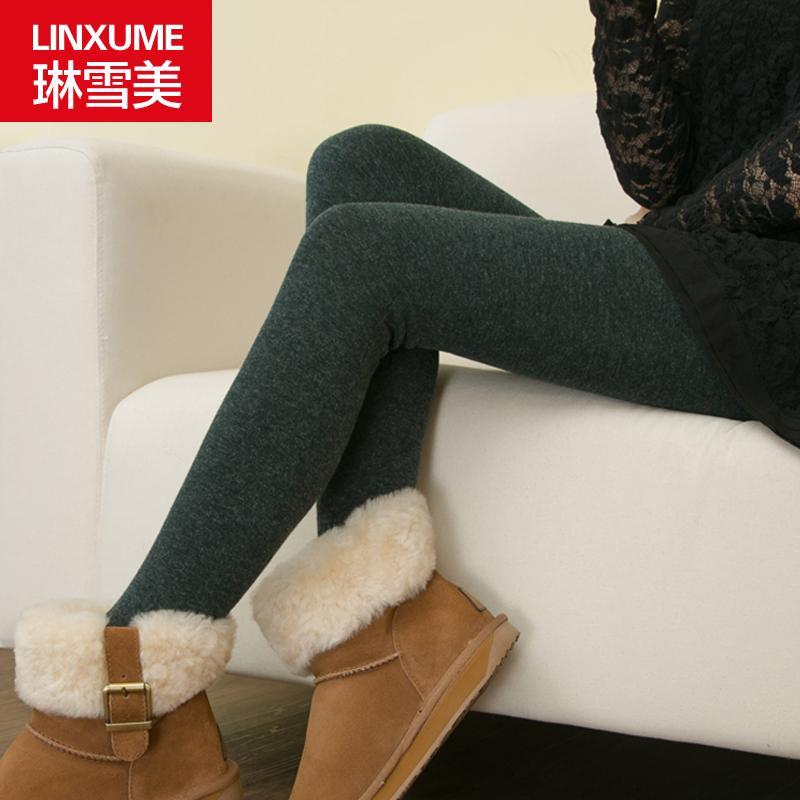 琳雪美女外穿加厚加绒保暖裤