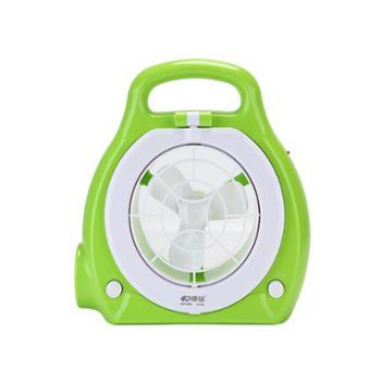 康铭可充电台灯手提灯学生迷你台式静音电风扇KM-686:绿色