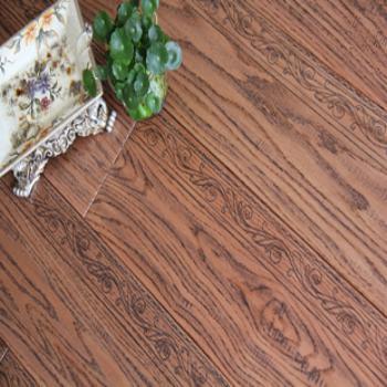 风格地板 实木地板 美国红橡(花式腰线仿古)