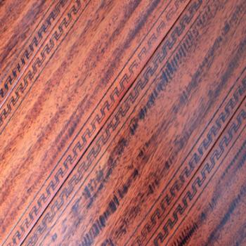 风格地板 实木地板 龙眼木