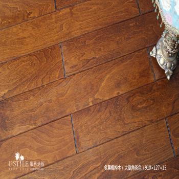 风格地板实木多层枫桦木