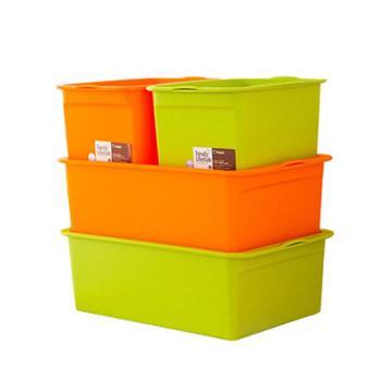 禧天龙塑料收纳箱4件套2大2小0716