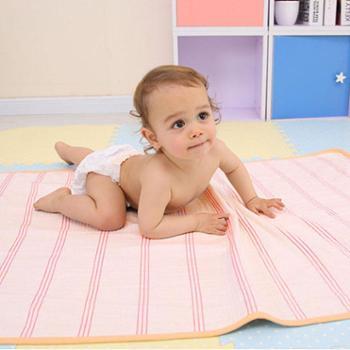 棉小兜婴儿凉席纯棉老粗布新生儿宝宝透气婴儿床凉席儿童幼儿园用