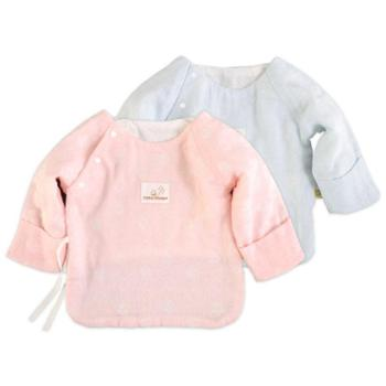 棉小兜新生儿单层半背衣纯棉婴儿服上衣0-3个月宝宝