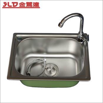 不锈钢水槽套装8件套洗菜盆一体成型不锈钢小单槽