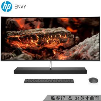【惠普HP】薄锐ENVY34-b010cn34英寸曲面屏窄边框游戏办公一体机