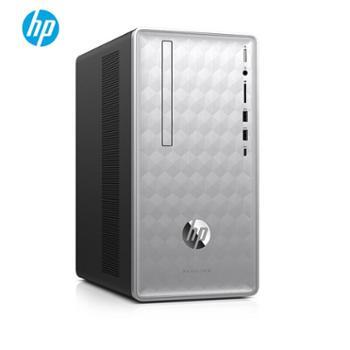 惠普(HP)星畅游人590-P032ccn台式家用办公电脑主机银白色无线网蓝牙