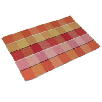 忆美特(EMIT)纯棉手工编织小地毯茶几窗台沙发垫60*90cmED-DT6090-005
