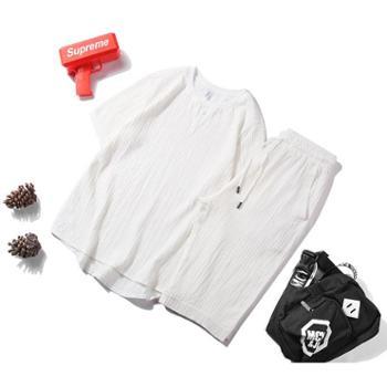 点就夏季短袖T恤套装男短裤两件套运动休闲韩版潮流薄款一套衣服裤子TZ1805