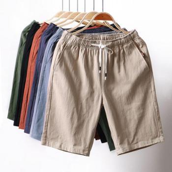 点就纯棉宽松大码五分短裤515