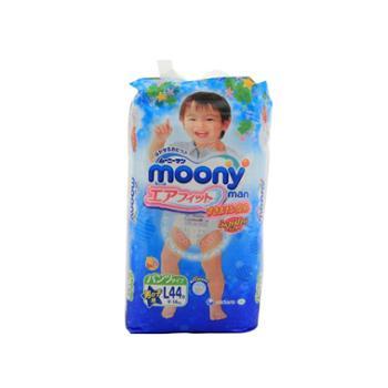 Moony日本原装进口直邮婴儿裤型纸尿裤L44片男尤妮佳拉拉裤小内裤