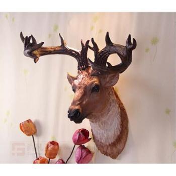欧式挂饰软装饰品墙饰鹿头壁挂