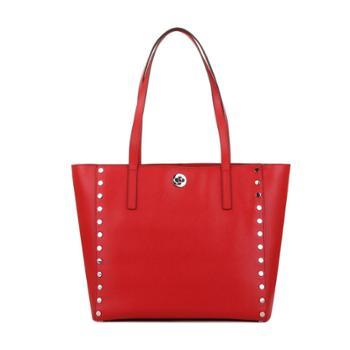 MichaelKors迈克科尔斯女式红色牛皮手提包30S7SR7T3L204