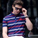 2018新款男士翻领polo衫潮牌英伦修身夏季商务男装短袖男式t恤ALH058