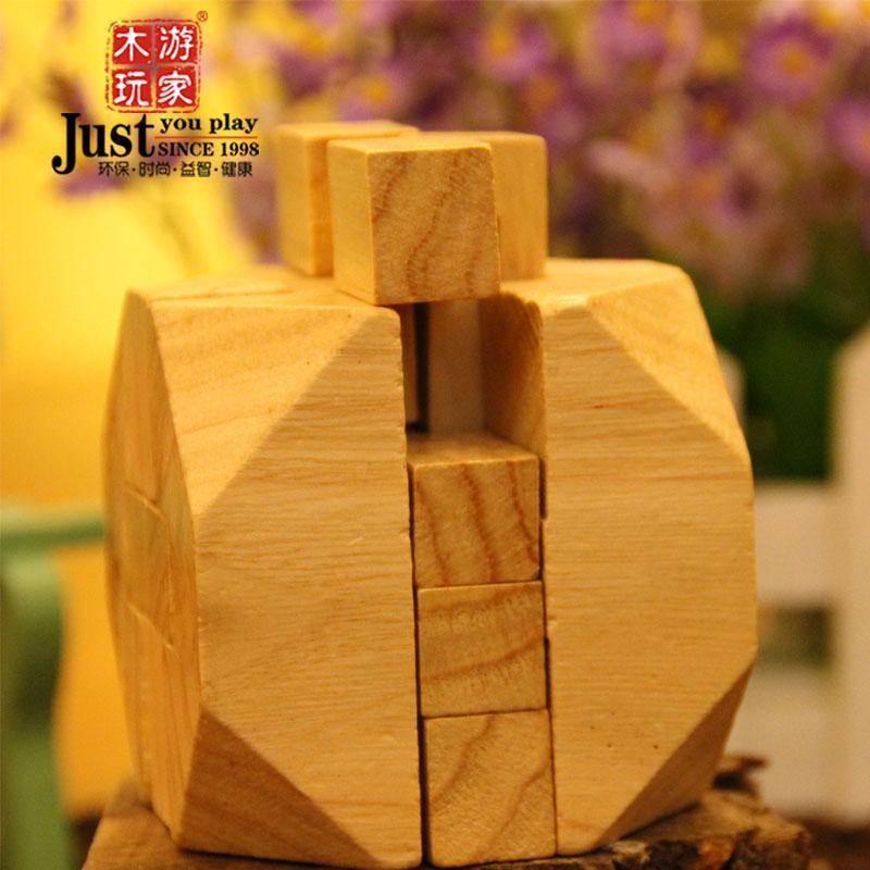 游家木玩残缺的美 十二方形锁鲁班球锁孔明锁 益智玩具5-8岁以上