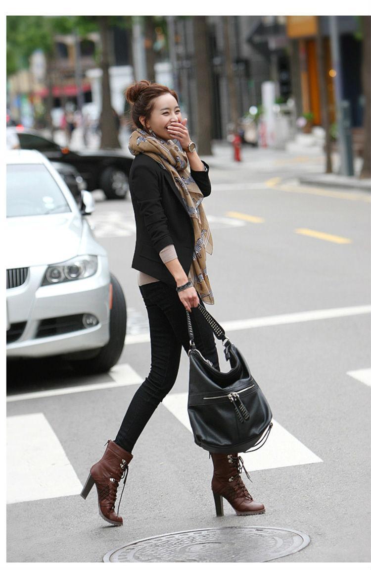 秋季韩版修身一粒扣女小西装秋冬女装西服外套 1278图片