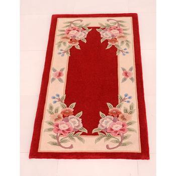 天发 加厚 100% 手工纯羊毛地毯/客厅 卧室 宾馆 茶几垫 定做