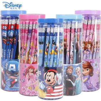 迪士尼小学生橡皮头铅笔桶装50支
