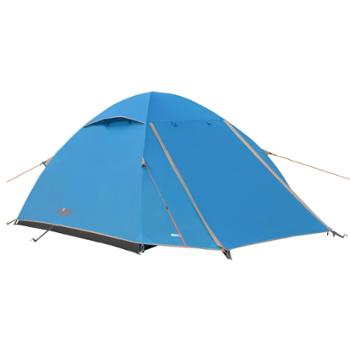 包邮慕山MSF正品户外帐篷多人3-4人双层玻架杆野营郊游蓝色