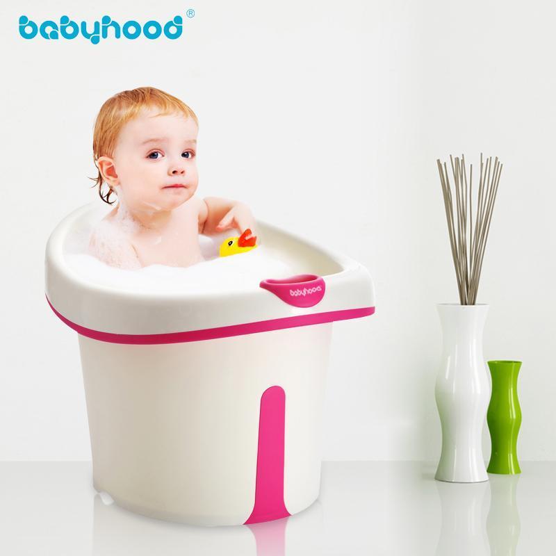 世纪宝贝 儿童浴桶 婴儿浴盆 宝宝泡澡桶加大加厚可坐 婴儿洗澡盆沐浴桶图片