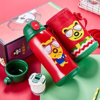 宝宝不锈钢保温杯儿童吸管杯两用杯幼儿园防摔隔热水杯水壶