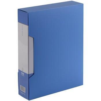 齐心(COMIX)PF100AK-1 大容量资料册/文件册/文件夹/报告夹 A4 100袋 配外壳 蓝色