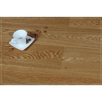 【四合地板】三层白栎自然色企口