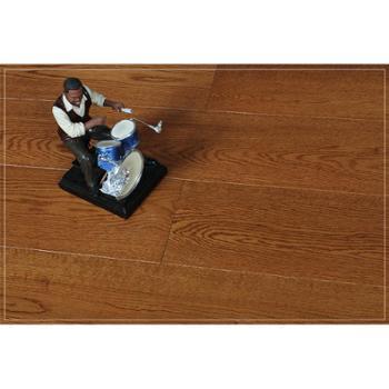 【四合地板】三层白栎柚木色半封闭企口