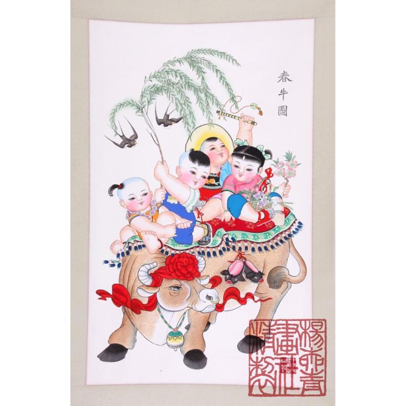 杨柳青年画 春牛图,善融商务个人商城仅售880图片