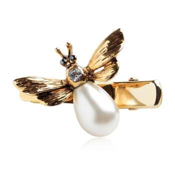 奇美拉韩版发饰蜜蜂飞舞仿珍珠边夹刘海夹